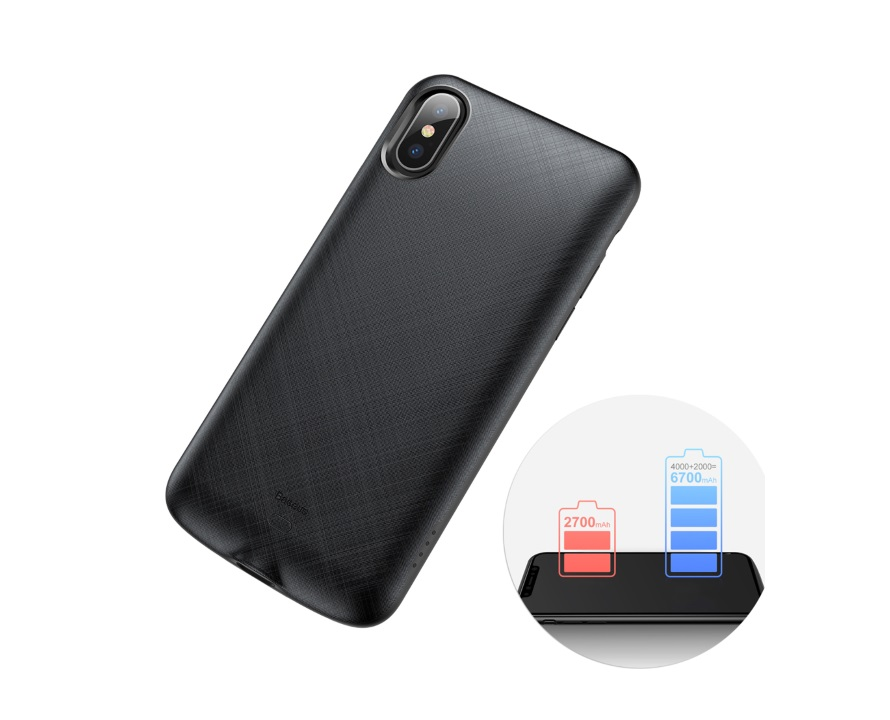 Battery Case iPhone XS/X 4000mAh Baseus ACAPIPH58-BJ01 image
