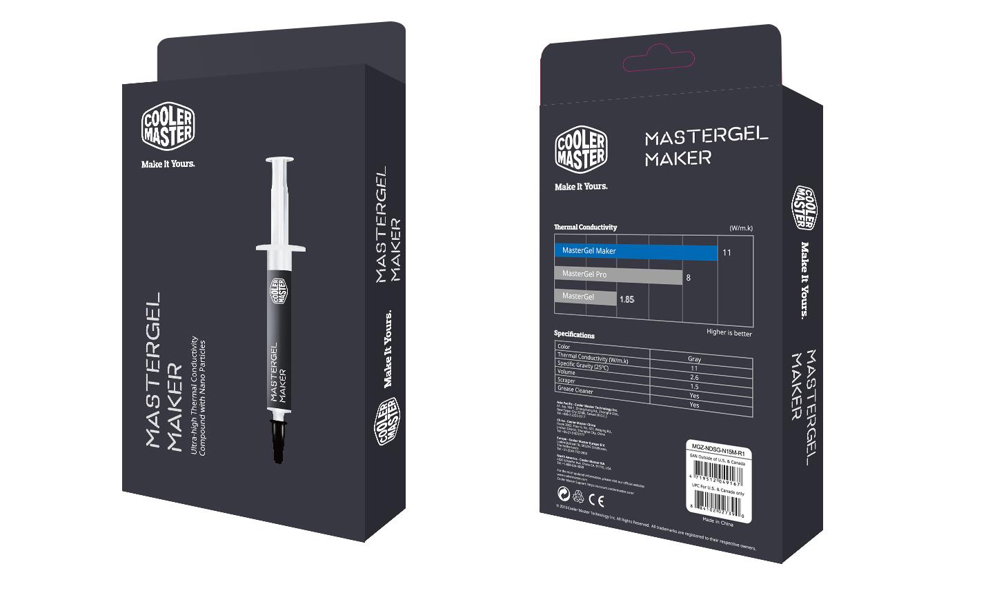 MasterGel Maker Thermal Paste 4gr CM MGZ-NDSG-N15M-R1 image