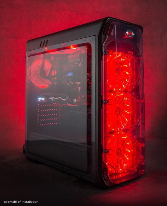 Κουτί Η/Υ LC Power LC-988B-ON Black-Red Typhoon image