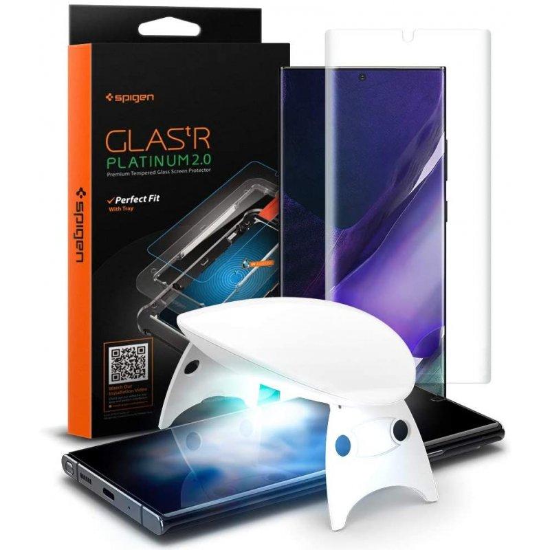 Premium Tempered Glass For Galaxy Note 20 Ultra Platinum 2.0 Spigen image