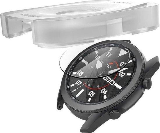 Tempered Glass x2 Glas.tR EZ Fit Spigen 9H Samsung Galaxy Watch 3 45mm AGL01843 image