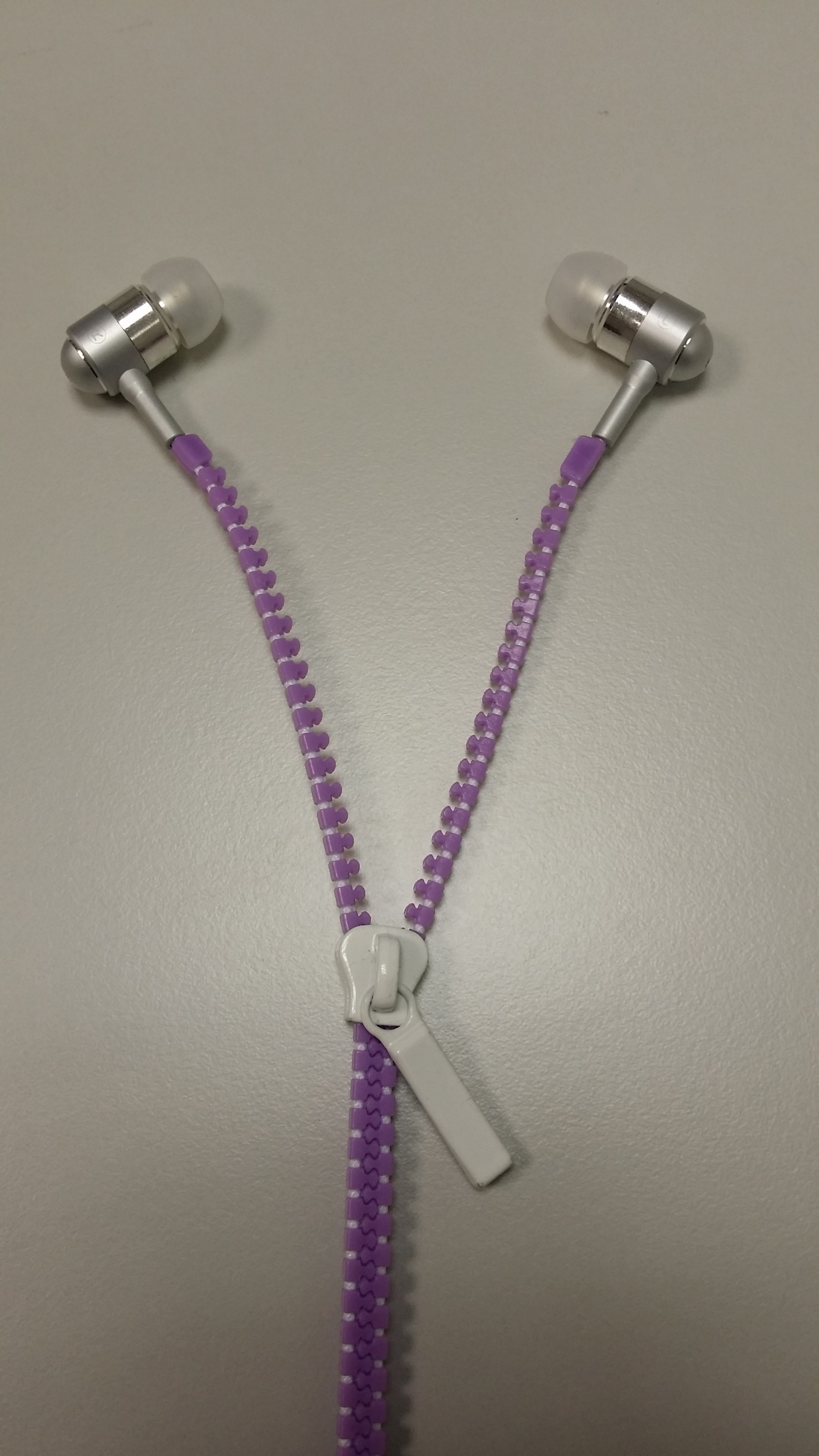 Zipper Led Earphone Purple image