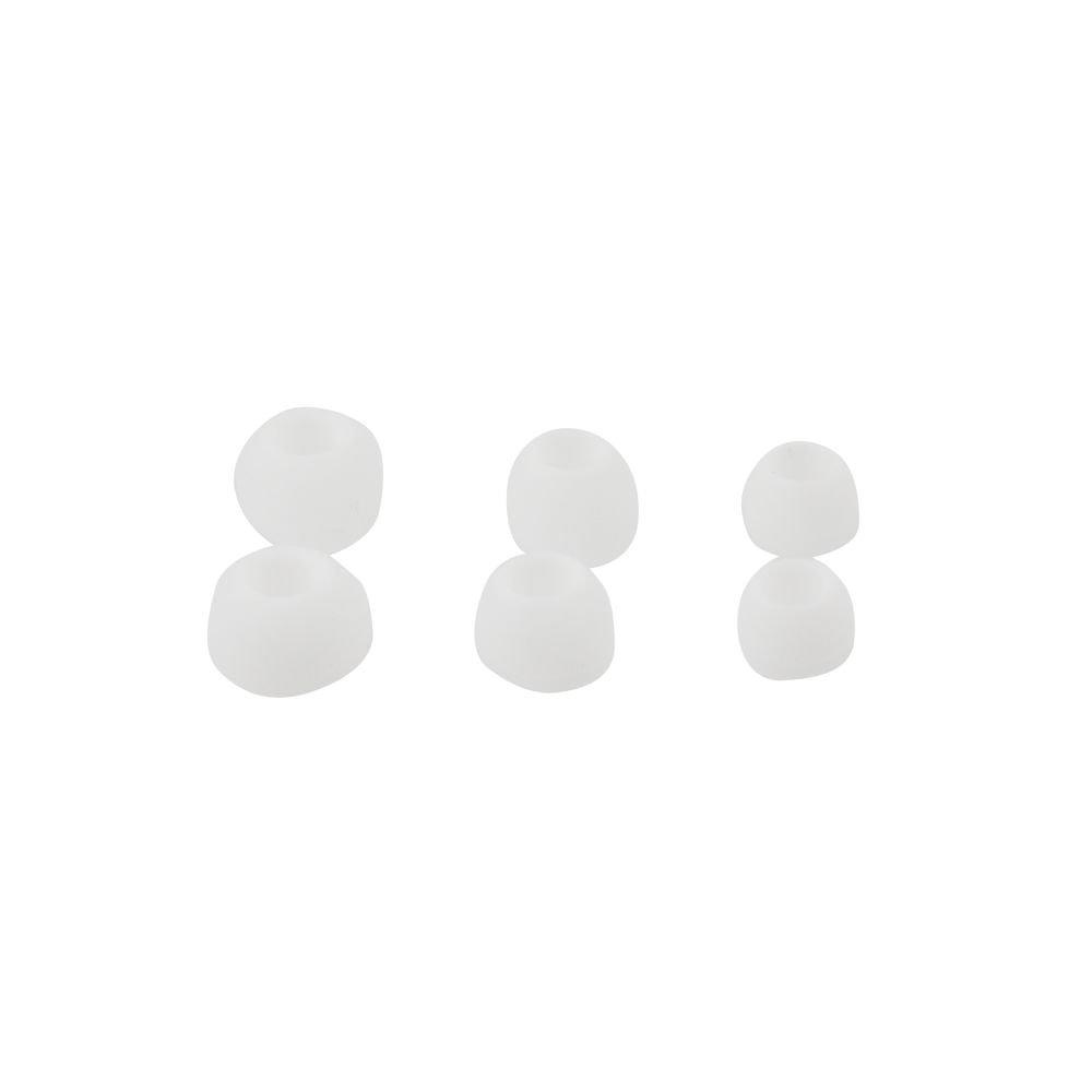 Ανταλλακτικά Ακουστικών Σιλικόνης Λευκά 3 Μεγέθη image