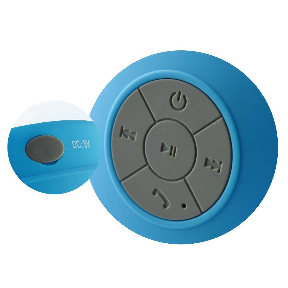 Ασύρματο Αδιάβροχο Bluetooth Ηχείο με Βεντούζα Γαλάζιο BS-330 image