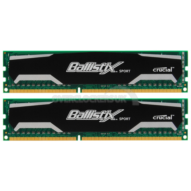Ballistix Sport By Crucial 16GB Ram KIT (2X8GB) DDR3 PC3-12800 1600MHz BLS2CP8G3D1609DS1S00CEU image