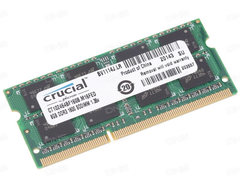 Crucial By Micron 8GB Ram DDR3L Για Φορητό 1600MHz CL11 CT102464BF160B image