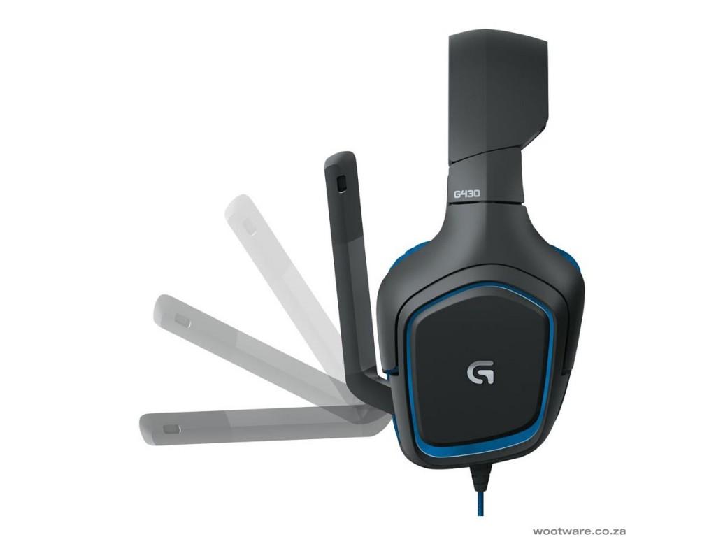 G430 Stereo Gaming Headset Logitech Black-Blue 981-000537 image