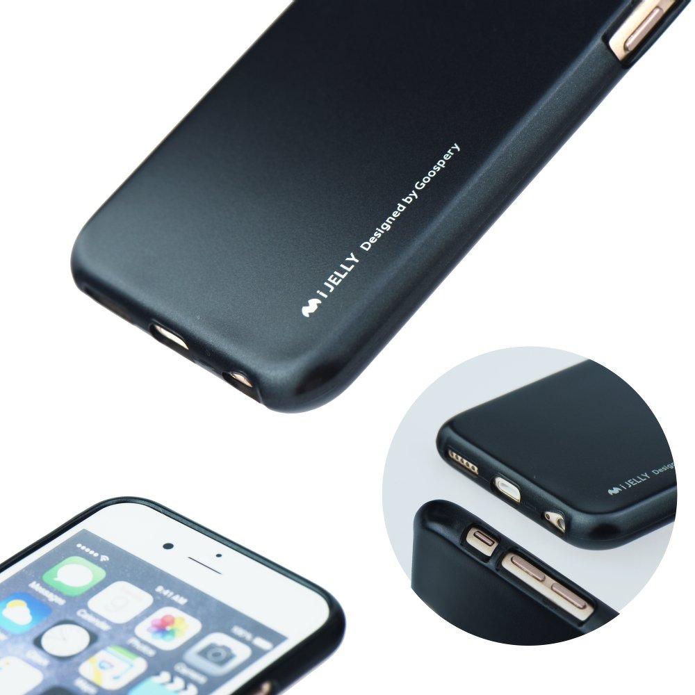 """iPhone 7 Plus,8 Plus 5.5"""" Silicone Case iJelly Mercury Black image"""