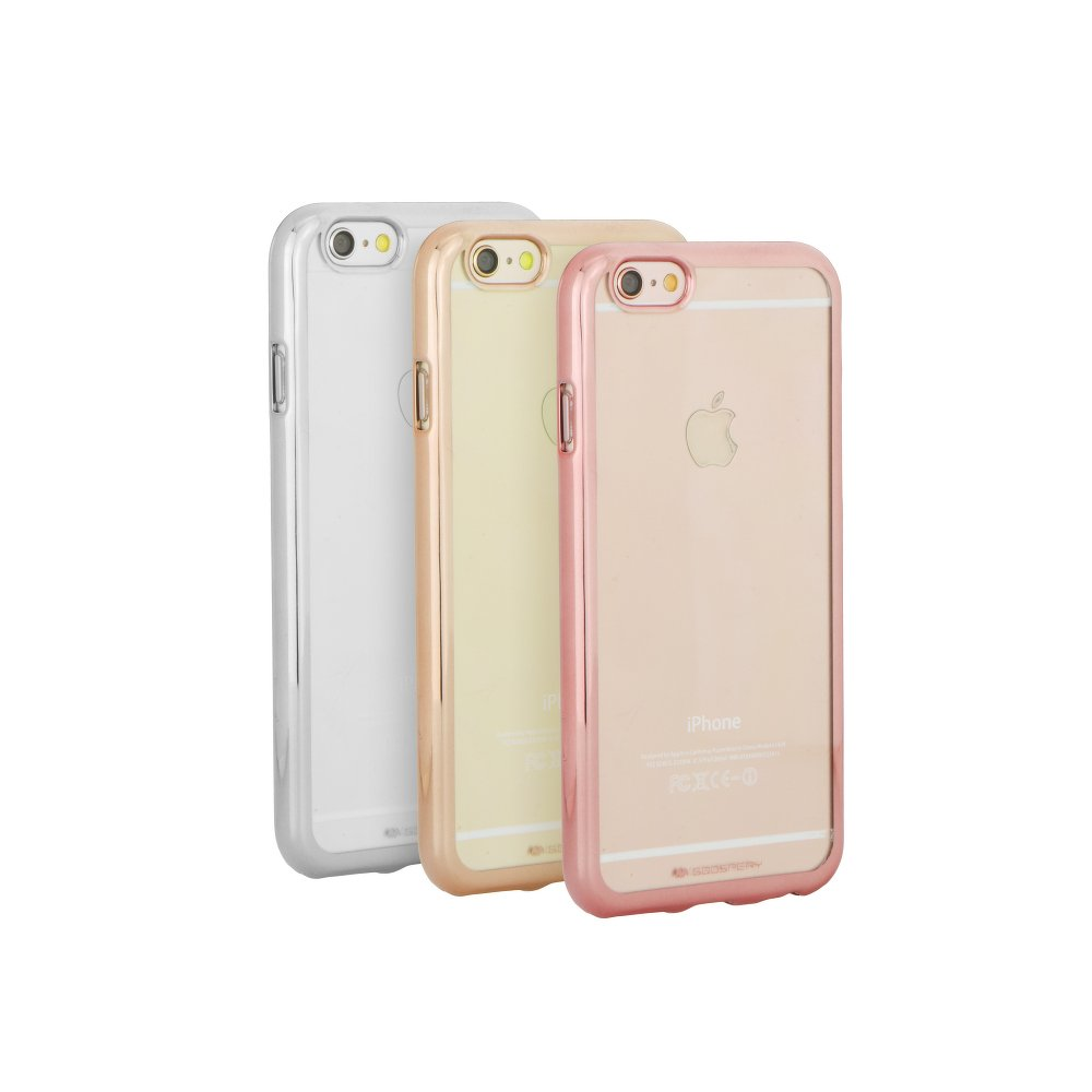 """iPhone 7,iPhone 8 4.7"""" Jelly Ring 2 Silicone Case Mercury Silver image"""