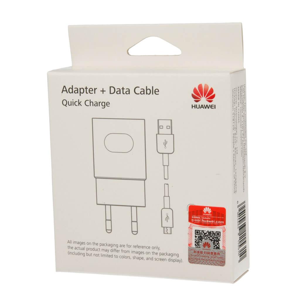 Γνήσιος Ταχυφορτιστής+Καλώδιο Micro USB Με Συσκευασία Huawei HW-059200EHQ 2A AP32 White image