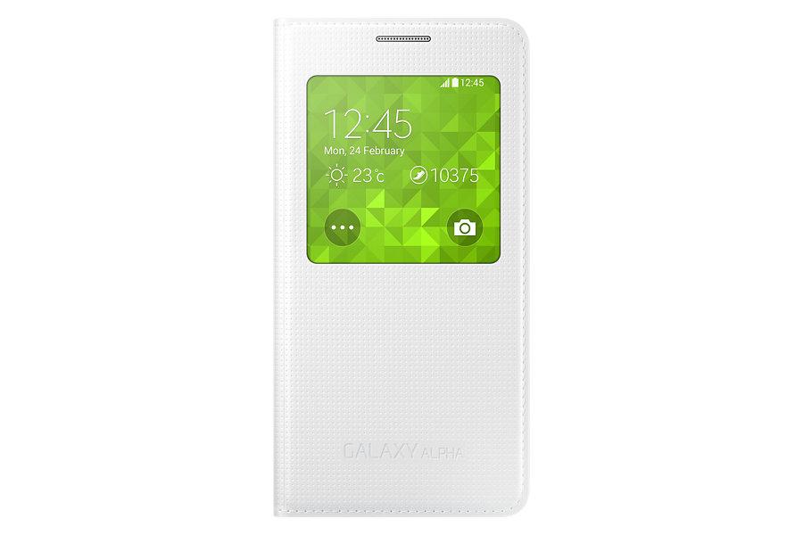 Samsung Galaxy Alpha G850 Original S-View Cover White EF-CG850BWE image