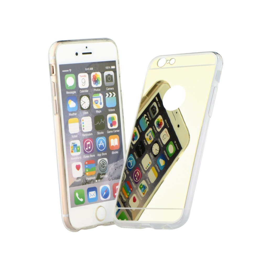 """iPhone 7 4.7"""" Forcell Mirror Silicone Case Gold image"""