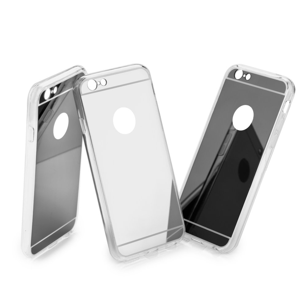 """iPhone 7 4.7"""" Forcell Mirror Silicone Case Grey image"""