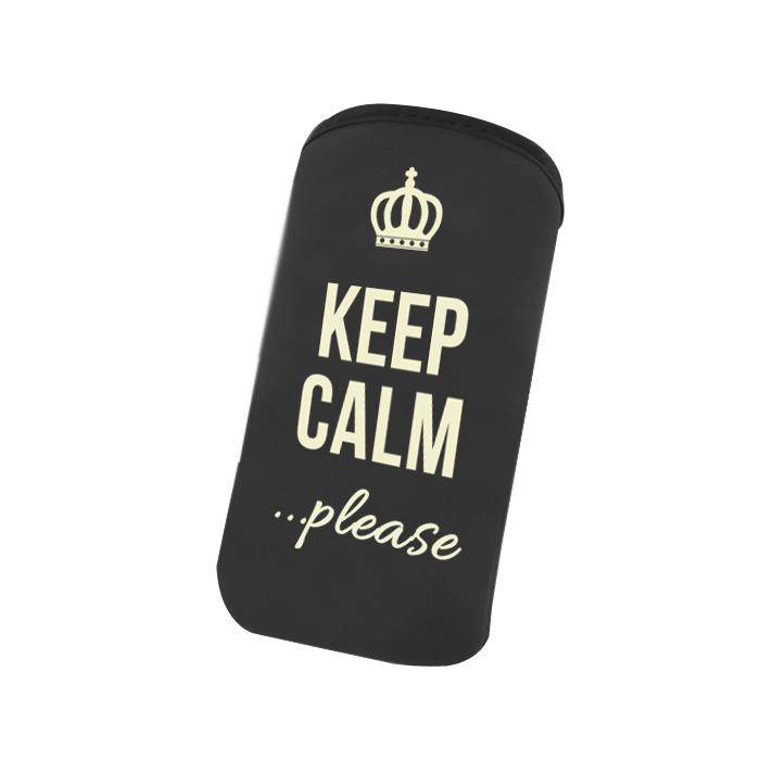 Universal Πουγγί Pouch Velvet Keep Calm Please Black image