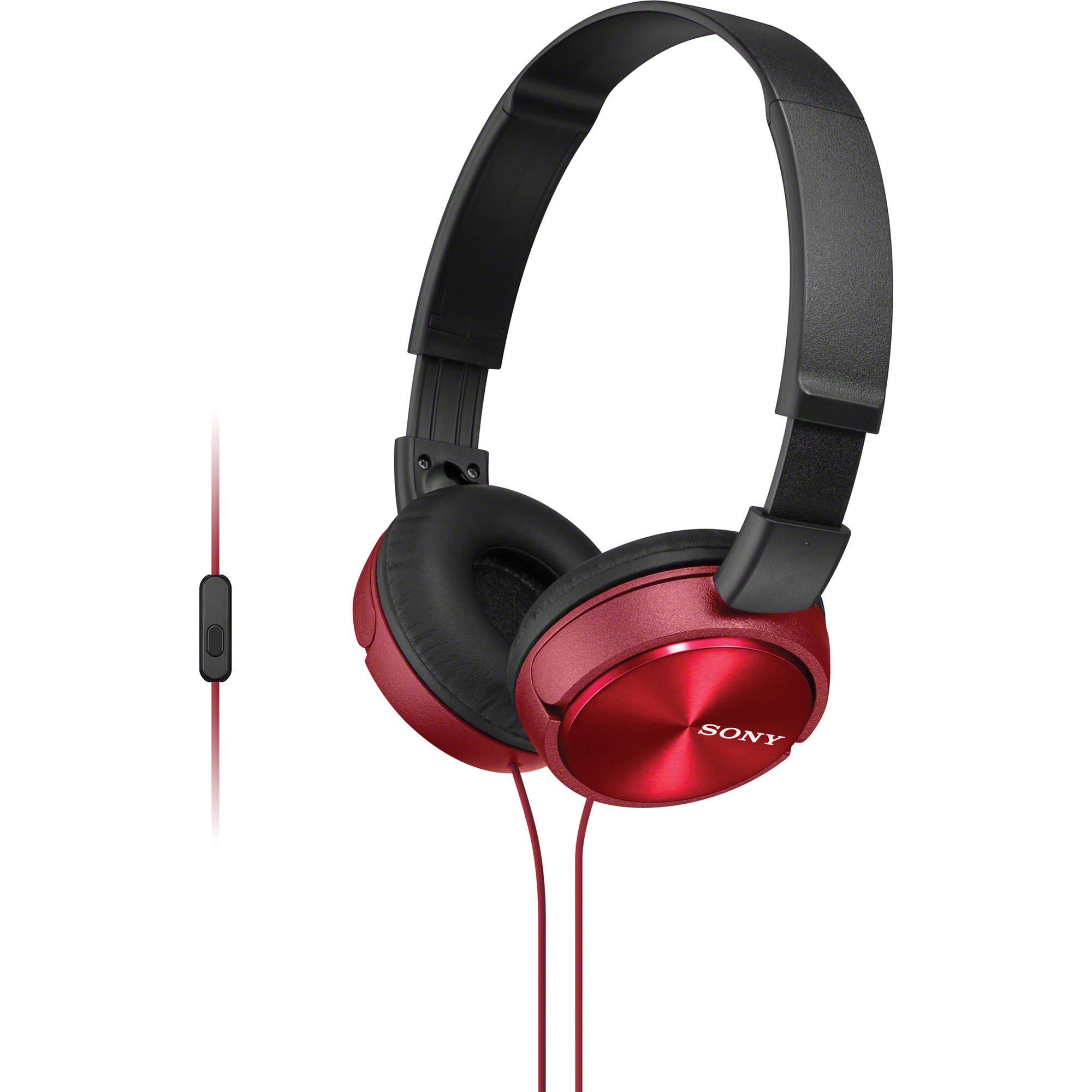 Ακουστικά Κεφαλής Στερεοφωνικά Sony MDR-ZX310AP Red Android, Apple, BlackBerry image