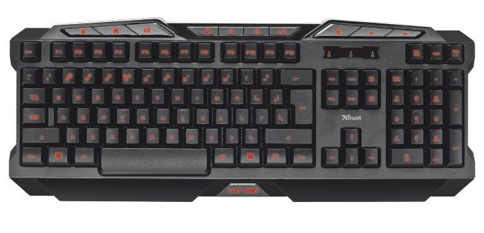 Πληκτρολόγιο Ενσύρματο Trust GXT280 Illuminated Keyboard image