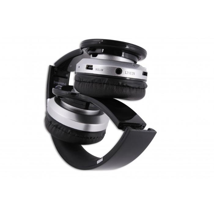 Ακουστικά Κεφαλής Bluetooth Rebeltec Crystal Black image