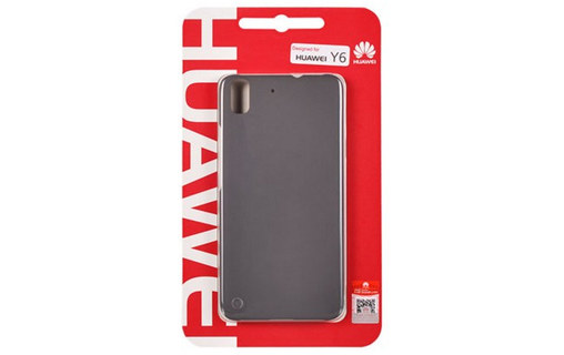 Γνήσια Θήκη Back Cover For Huawei Y6 Grey image