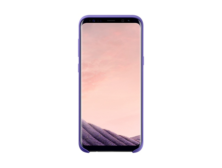 Original Silicone Cover For Samsung Galaxy S8 Plus G955 Violet EF-PG955TVE image