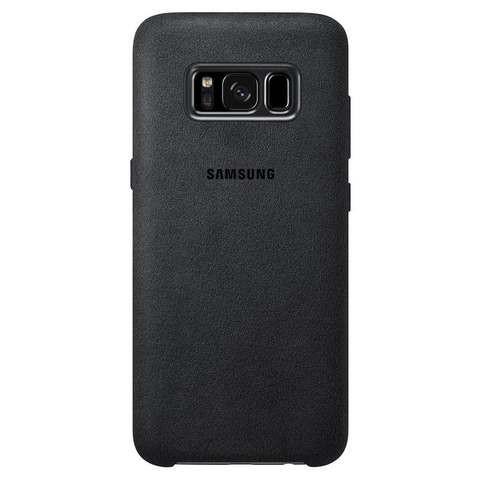 Original Alcantara Cover Samsung Galaxy S8 Plus G955 Dark Gray EF-XG955ASE image