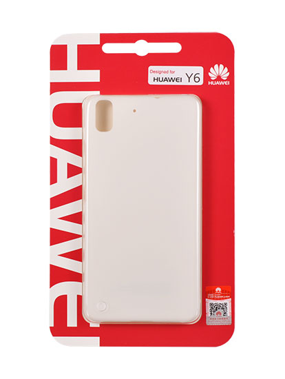 Γνήσια Θήκη Back Cover For Huawei Y6 White 51990806