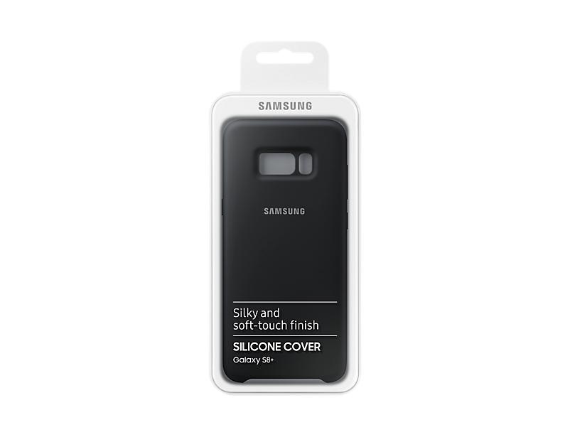 Original Silicone Cover For Samsung Galaxy S8 Plus G955 Dark Gray EF-PG955TSE image