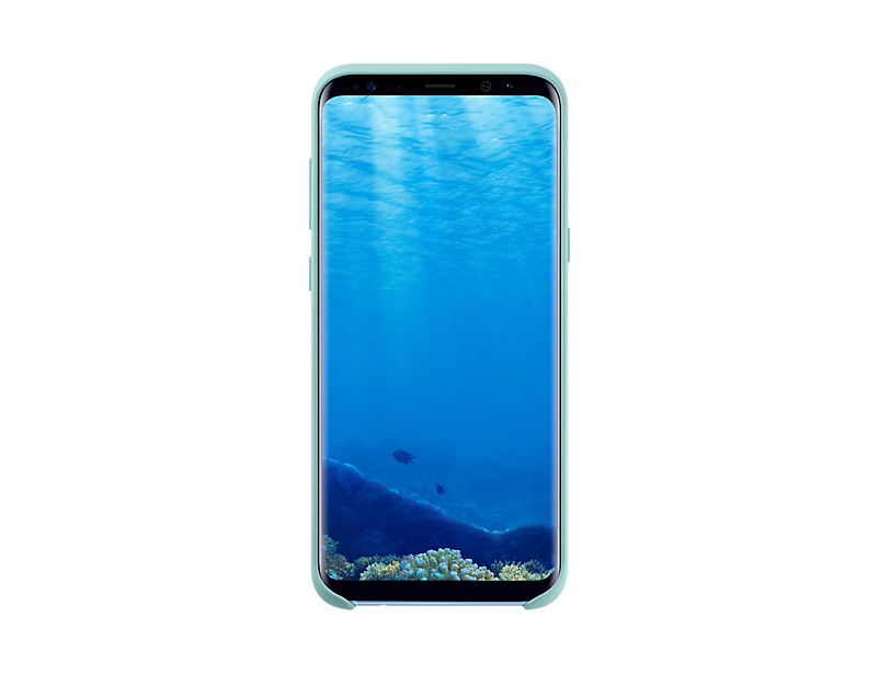 Original Silicone Cover For Samsung Galaxy S8 Plus G955 Blue EF-PG955TLE image
