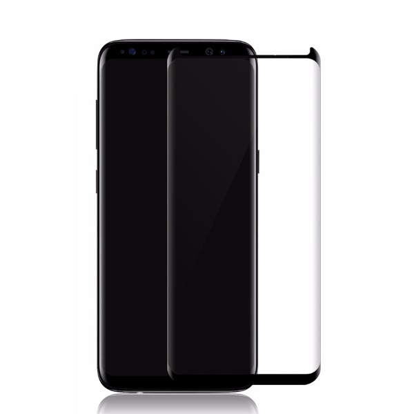 "Samsung Galaxy S8 Plus 6.2"" Tempered Glass 4D Black Case Friendly 9H Full Cover image"