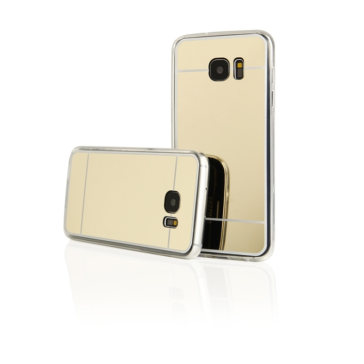 Samsung Galaxy S8 Plus G955 Forcell Mirror Silicone Case Gold image