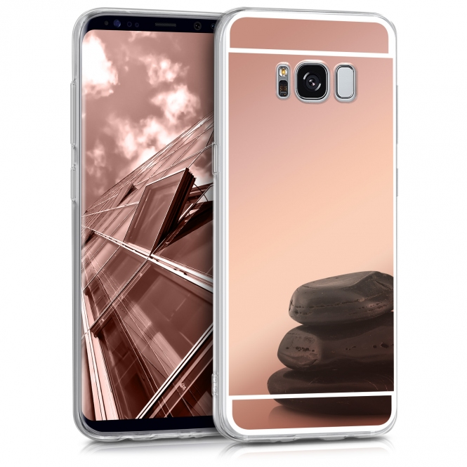 Samsung Galaxy S8 Plus G955 Forcell Mirror Silicone Case Rose Gold image