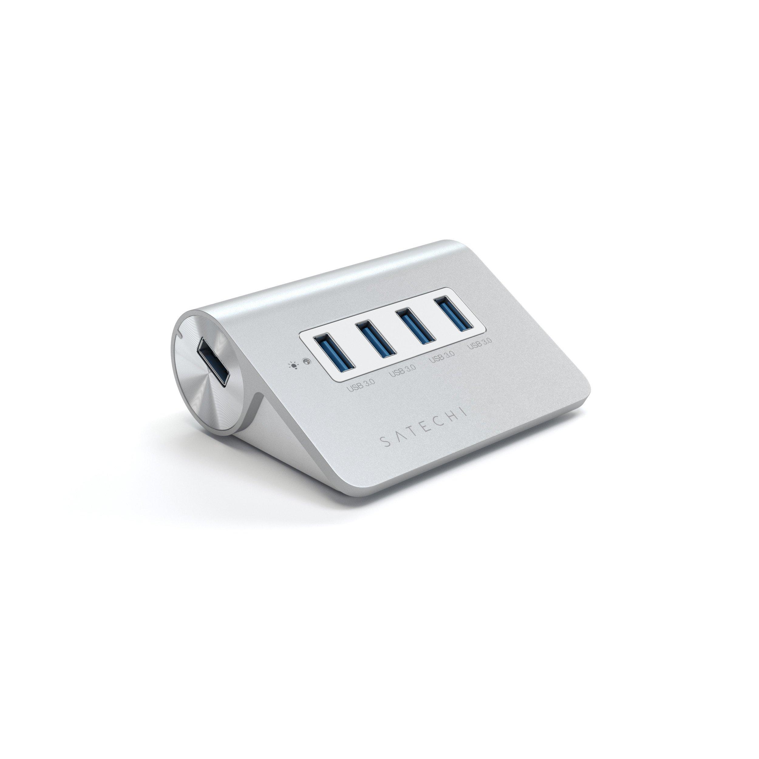 Aluminum 4-Port USB 3.00 HUB V.2 Satechi Silver ST-UHA34OR image