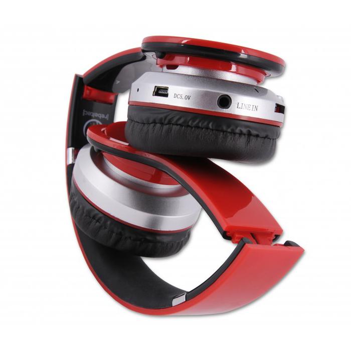 Ακουστικά Κεφαλής Bluetooth Rebeltec Crystal Red image