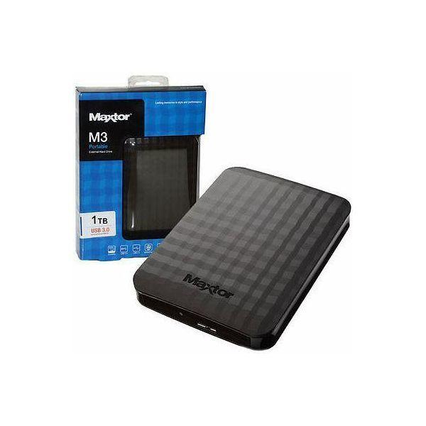 """Εξωτερικός Σκληρός Maxtor M3 1TB USB 3.0 2.5"""" STSHX-M101TCBM Black image"""