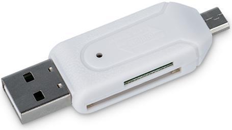 Micro USB & USB OTG, Micro SD, SD Card Reader White Forever image