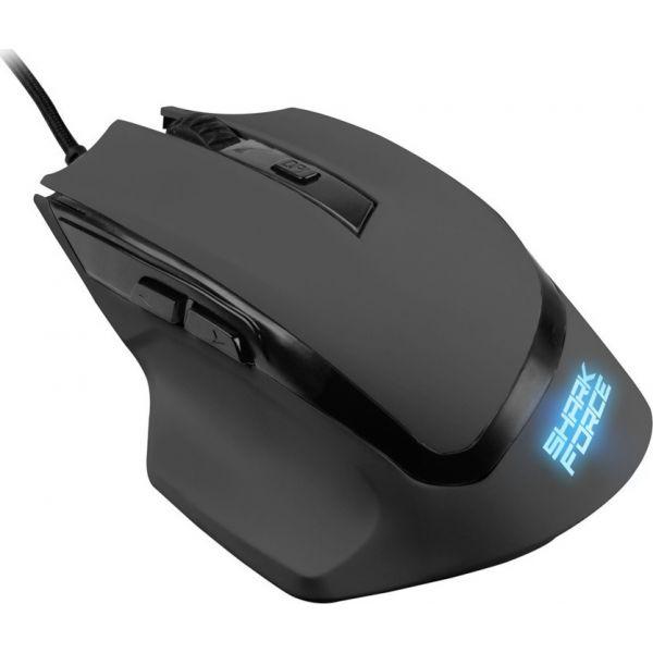Ενσύρματο Gaming Laser Ποντίκι Shark Force Black 4044951013975 image