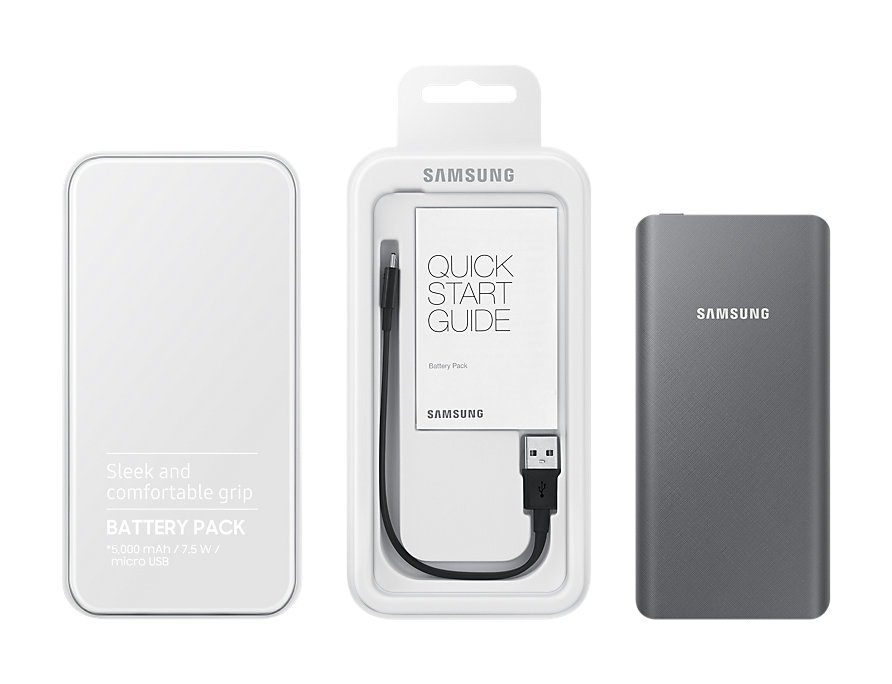 Power Bank Original Samsung Battery Pack 5000mAh Grey EB-P3020BSE  image