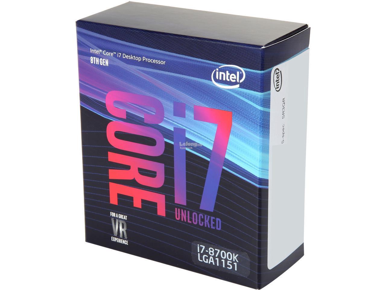 Επεξεργαστής Intel i7 8700K 3.7Ghz LGA1151 BX80684I78700K ΧΩΡΙΣ ΨΥΚΤΡΑ image