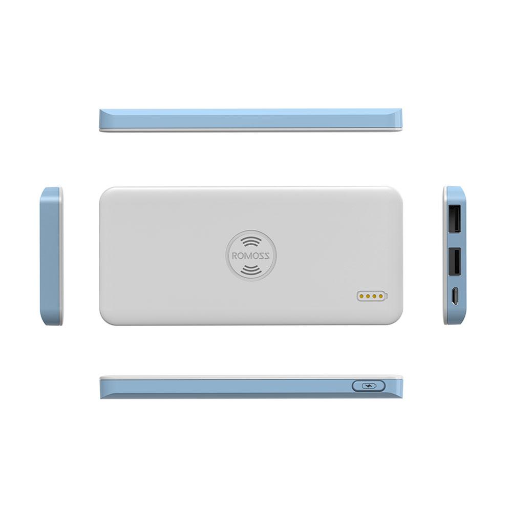 Freemos 5 Power Bank White Wireless Charging External Battery 5000mAh Romoss  image