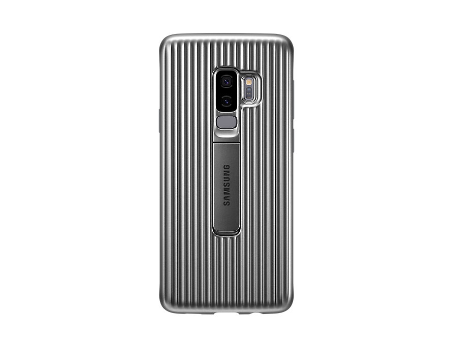 Original Protective Standing Cover Samsung Galaxy S9 Plus Silver EF-RG965CSE image