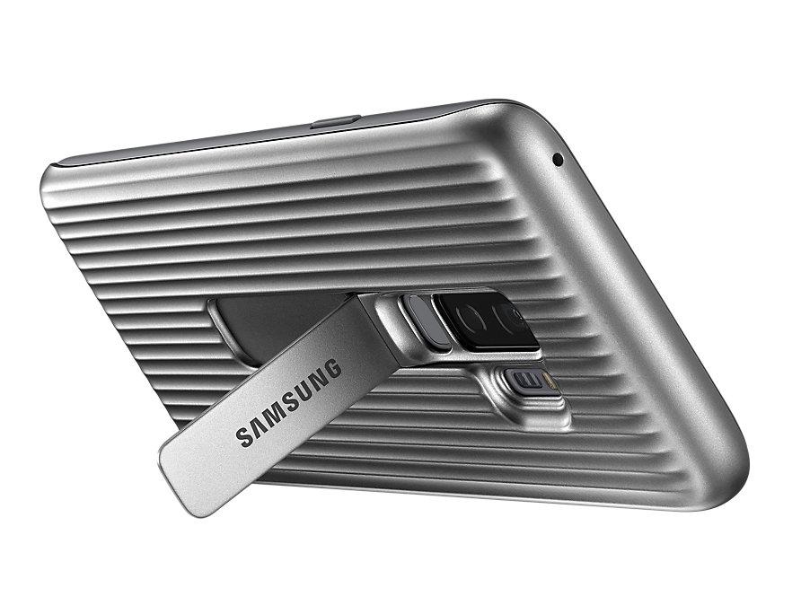 Original Protective Standing Cover Samsung Galaxy S9 Plus Silver EF-RG965CSE