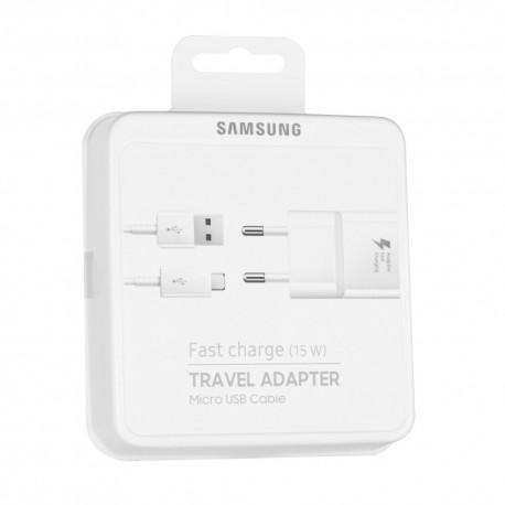 Γνήσιος Φορτιστής Samsung Galaxy S6, S7 EP-TA20EWE+EP-DN925UWE 2A White Blister Fast Charging image