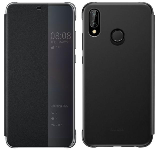 """Γνήσια Θήκη Flip Case Για Το Huawei P20 Lite 5.84"""" Με Παράθυρο Μαύρη 51992313 image"""