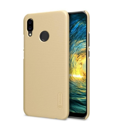 Huawei P20 Lite Nillkin Super Frosted Shield Case Gold + Screen Protective Film image