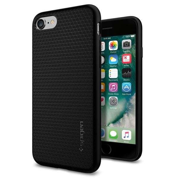 "iPhone 8/7 4.7"" Spigen Liquid Air Armor Silicone Case Black 042CS20511 image"
