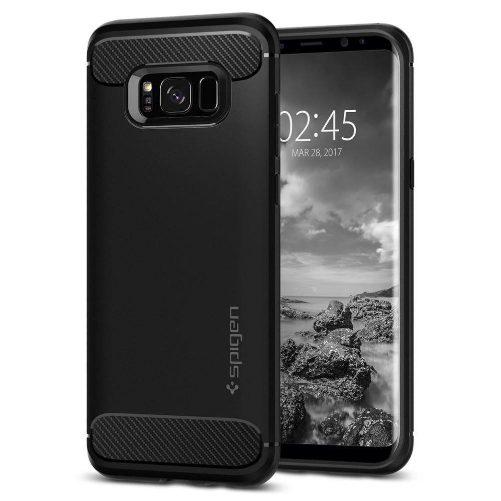 Samsung Galaxy S8 Plus Spigen Rugged Armor Black 571CS21661 image