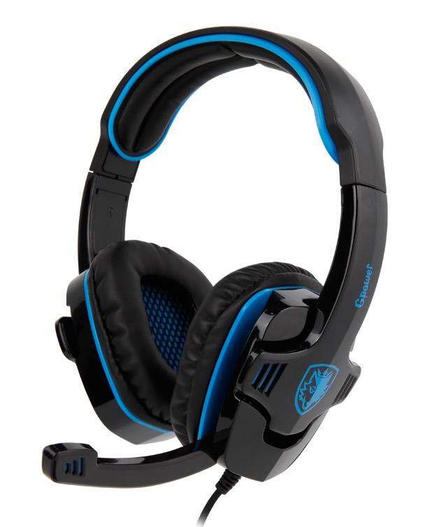 Gaming Ακουστικά Κεφαλής Sades Gpower Blue SA-708-BL image
