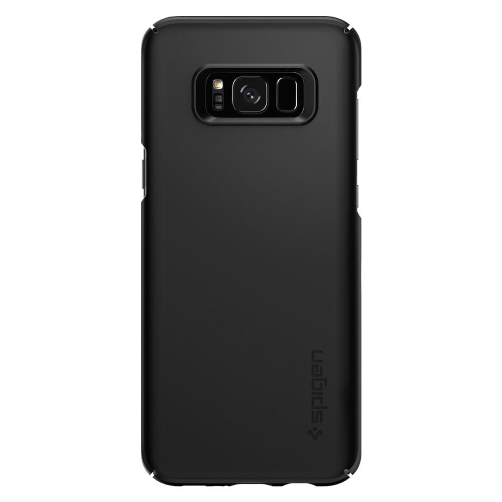 Samsung Galaxy S8 Plus G955 Spigen Thin Fit Case Black 571CS21676 image