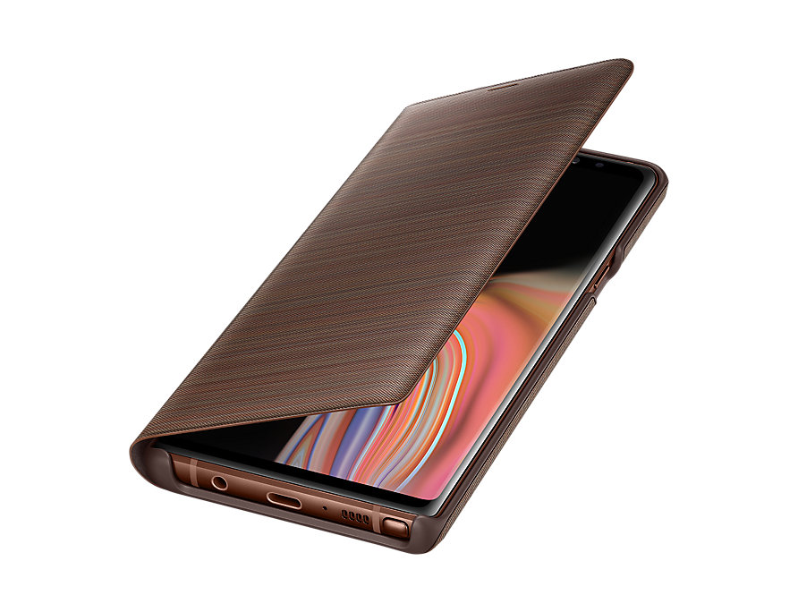 Original LED View Cover Samsung Galaxy Note 9 Brown EF-NN960PAE image