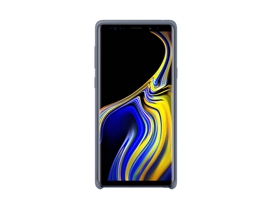 Original Silicone Cover For Samsung Galaxy Note 9 Blue EF-PN960TLE image