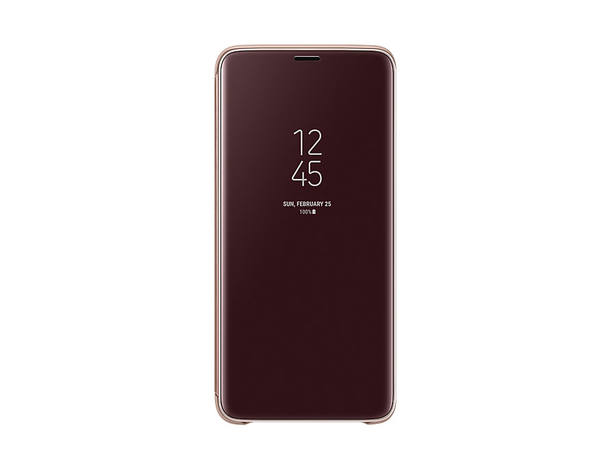 Original Clear View Cover Samsung Galaxy S9 Plus G965 Gold EF-ZG965CFE image